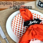 Easy Halloween Bat Napkin Rings