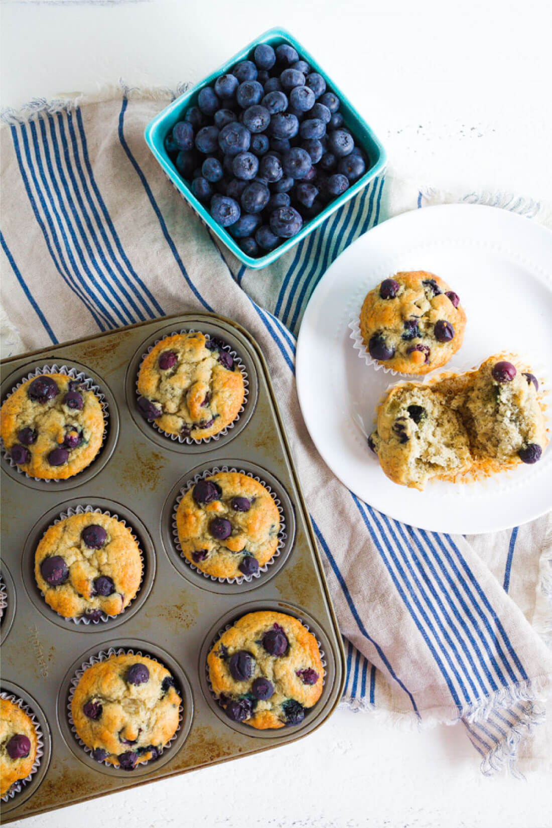 Simple to make and family friendly, these Banana Blueberry Muffins are super tasty. You'll want to make this blueberry muffin recipe over again and again from www.thirtyhandmadedays.com
