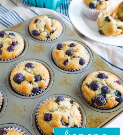 Simple to make and family friendly, these Banana Blueberry Muffins are super tasty. You'll want to make this blueberry muffin recipe over again and again.