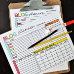 Printable Blog Planner and Excel sheet - help you get on track with your blog! from Thirty Handmade Days