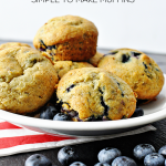 Easy to make, kid friendly Blueberry Banana Muffins from Thirty Handmade Days