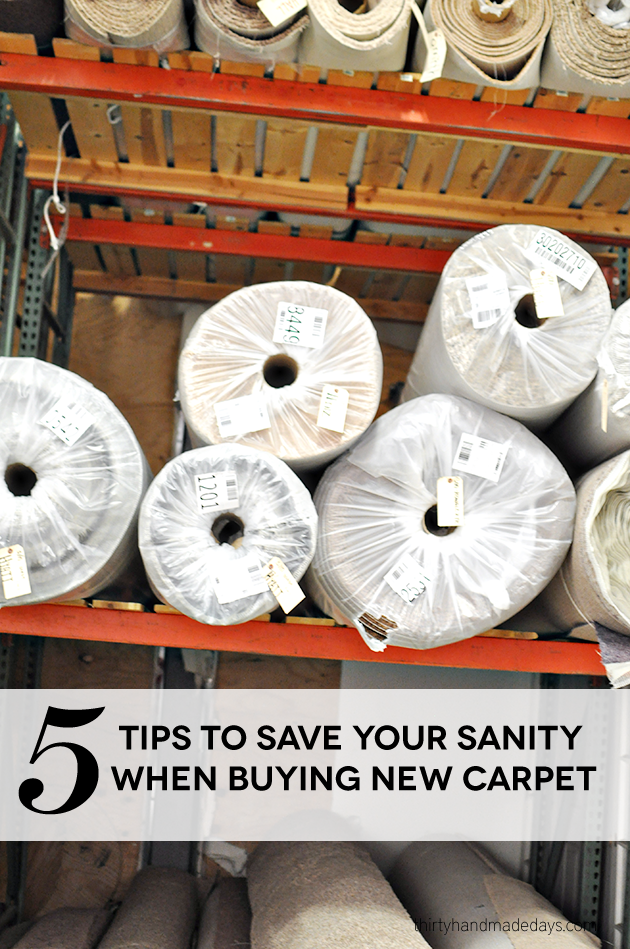 5 Tips to Save Your Sanity When Buying New Carpet  | Thirty Handmade Days