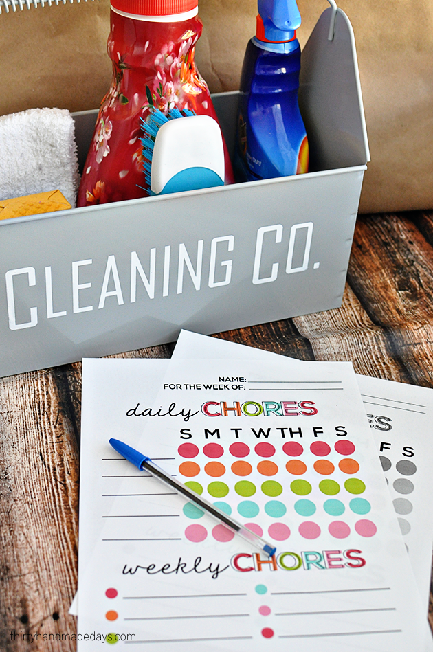Printable Chore List from www.thirtyhandmadedays.com