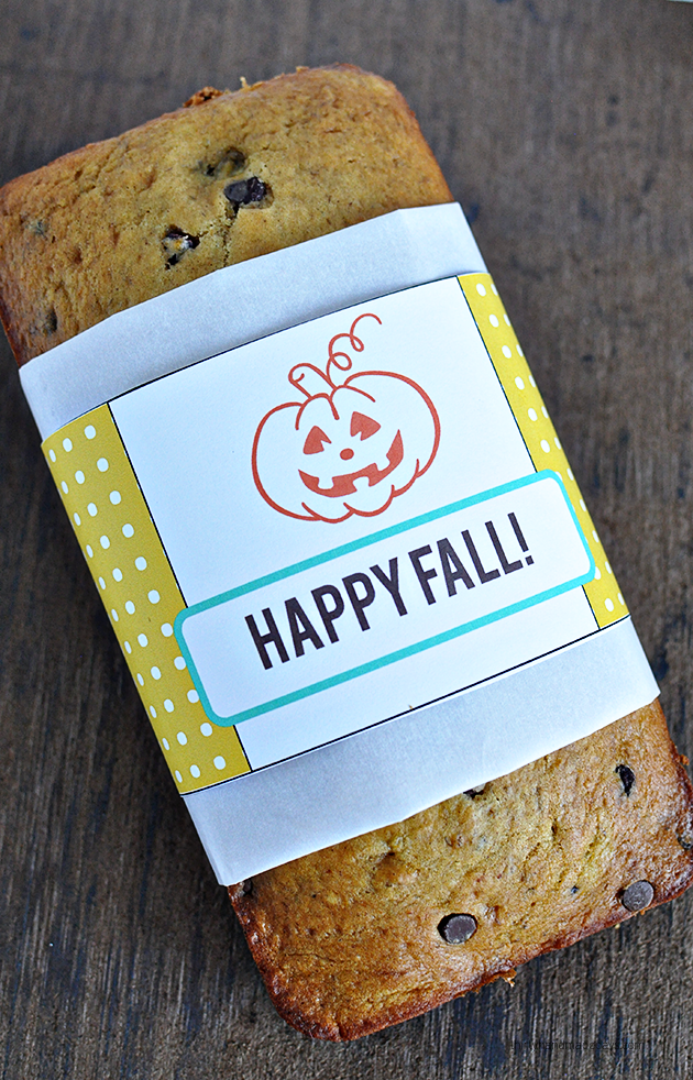 Printable Fall Bread Wrapper from Thirty Handmade Days