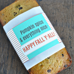 Printable Fall Bread Wrapper | Thirty Handmade Days