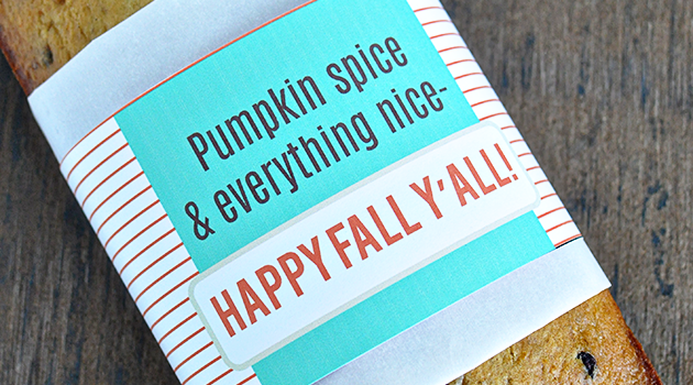 Printable Fall Bread Wrapper