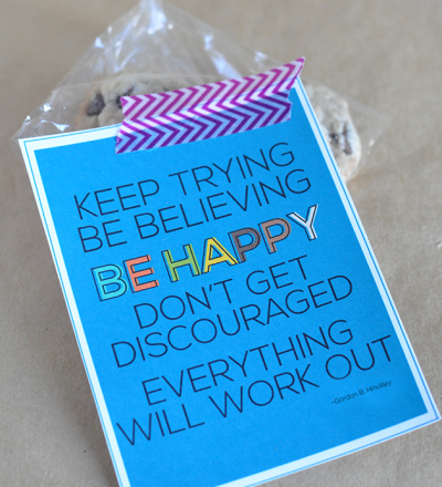 Encouraging quote print and card from Gordon B. Hinckley www.thirtyhandmadedays.com