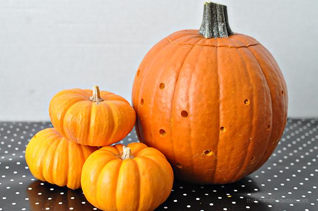 Make your own Polka Dot Pumpkins from www.thirtyhandmadedays.com