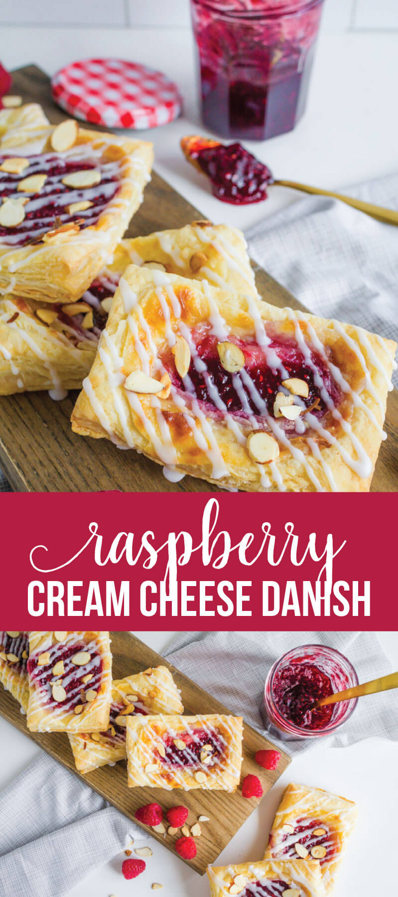 Raspberry Cream Cheese Danish - making your own is a lot easier than you think.  And so delicious! via www.thirtyhandmadedays.com
