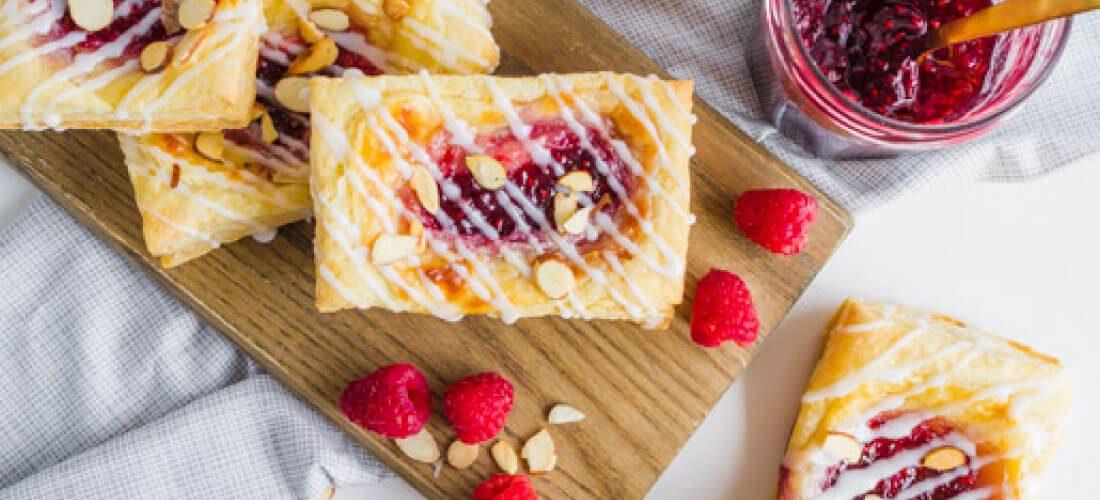 Raspberry Almond Cream Cheese Danish