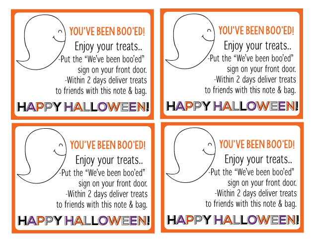 "Fun ""You've Been Boo'ed"" Printable Halloween set from Thirty Handmade Days"