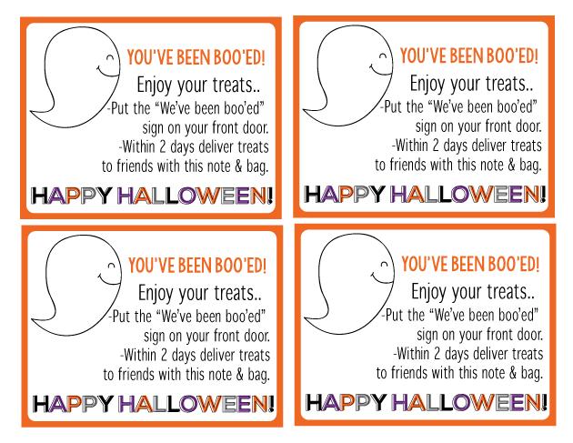 "Fun ""You've Been Boo'ed"" Printable Halloween set from Thirty Handmade Days"
