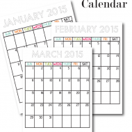Printable Calendars for 2015