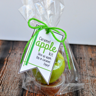 Caramel Apple Kit with Printable Tags