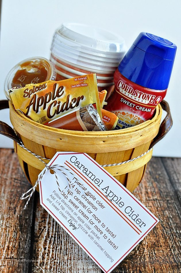 Perfect for fall - Caramel Apple Cider Kit with Printables from www.thirtyhandmadedays.com