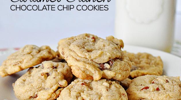 Caramel Crunch Chocolate Chip Cookies