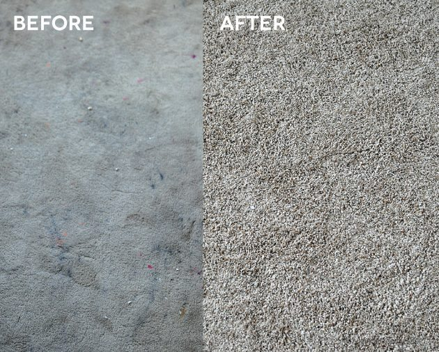 Before and after carpet pictures