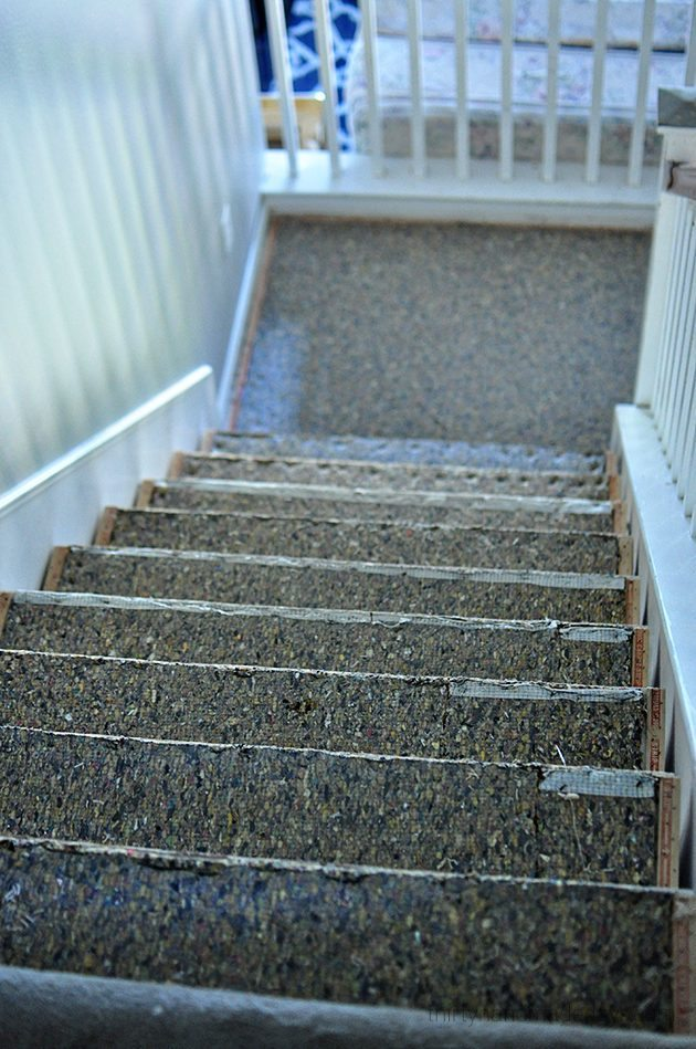 Stairs during the carpet redo