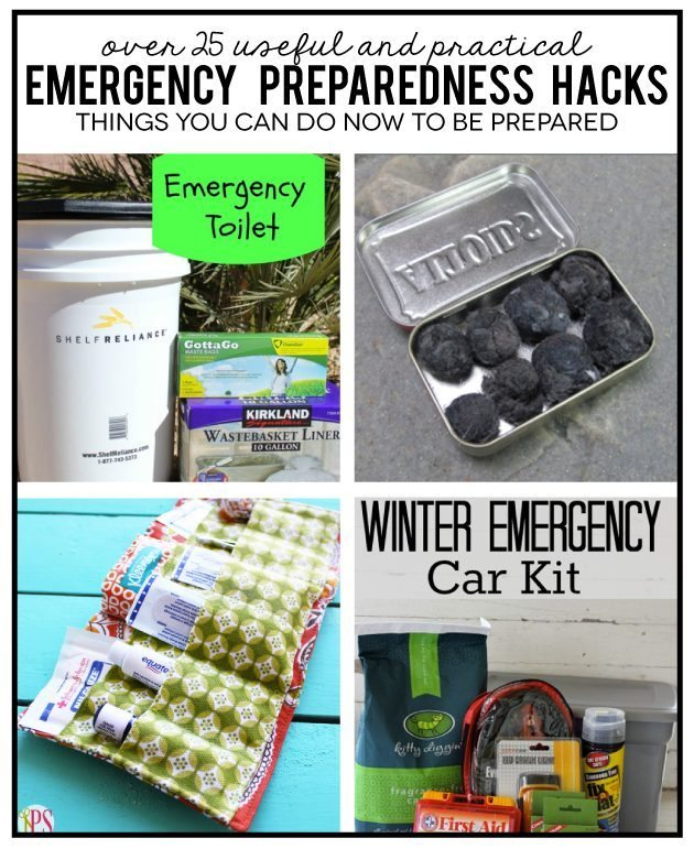 Over 25 useful and practical Emergency Preparedness Hacks - things you can do now to feel prepared www.thirtyhandmadedays.com