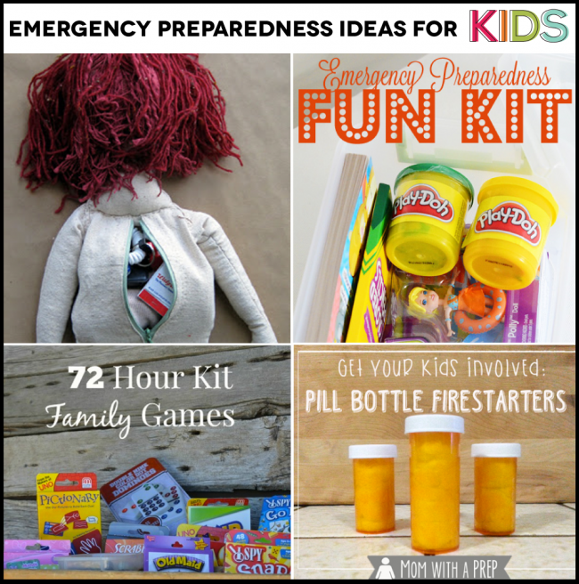 Emergency Preparedness for kids - things you can do now to feel prepared