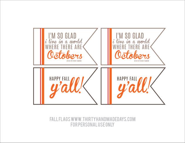Printable Fall Tags