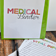All Inclusive Medical Binder