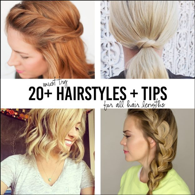 Over 20 Must Try Hairstyles for All Lengths of Hair - tips, tricks and easy ways to style your hair! thirtyhandmadedays.com