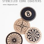 Round Cork Coaster Tutorial featured on the Party Bunch