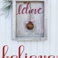 Believe Rustic Christmas Art