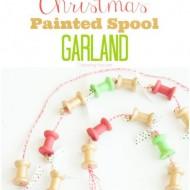 Painted Christmas Spool Garland