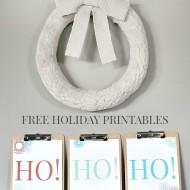 Ho Ho Ho Holiday Printables