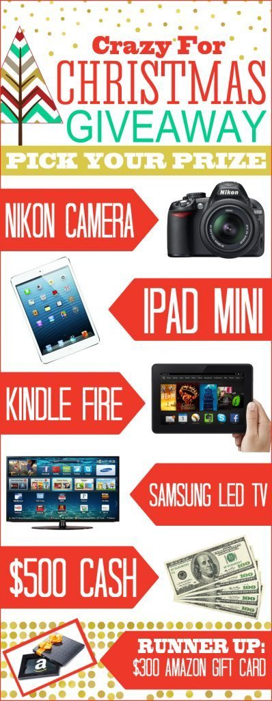 Amazing giveaway prizes for Pinterest Party