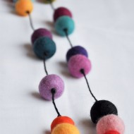 Felt Ball Statement Necklace