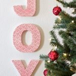 Super cute embellished joy letters from Classy Clutter.