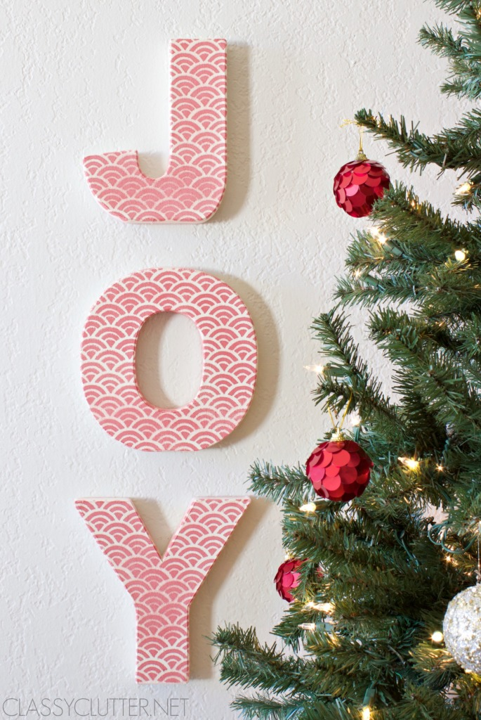 Embellished Joy Letters