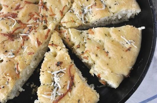 60 Minute Skillet Focaccia Bread