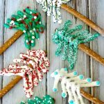 Pretzel Christmas Trees featured at the Party Bunch