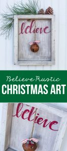 DIY Believe Sign to make for Christmas! www.thirtyhandmadedays.com