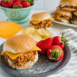 Crockpot Buffalo Chicken Sliders - make this easy slow cooker meal that your whole family will love!