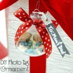 Adorable and easy to make Photo Ornaments from Michele of the Scrap Shoppe for Bake Craft Sew series