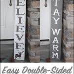 Adorable double sided DIY Christmas Sign from Over the Big Moon for Bake Craft Sew Series