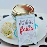 Printable Snowflake Holiday Tag