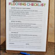 Printable Flooring Checklist