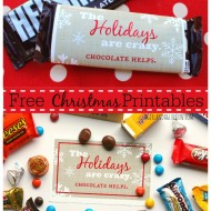 Free Christmas Printables: Chocolate Edition