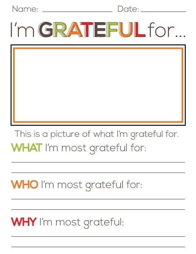 I'm grateful for.... Thanksgiving printable Thirty Handmade Days