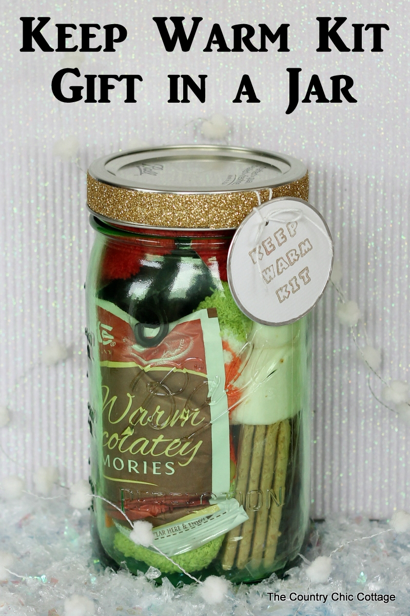 Gifts in a jar keep warm kit for Homemade gifts in a jar for men