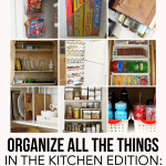 Tips to a More Organized Kitchen: the Cabinets & Drawers