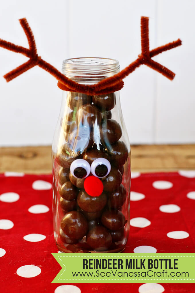Reindeer Milk Bottle - cute treat idea for Christmas