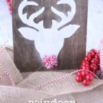Reindeer Sign With Pom Pom Nose