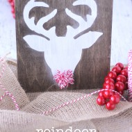 Reindeer Sign With Pom Pom Nose